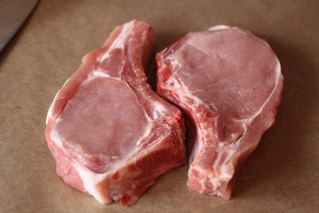 肉が二切れ